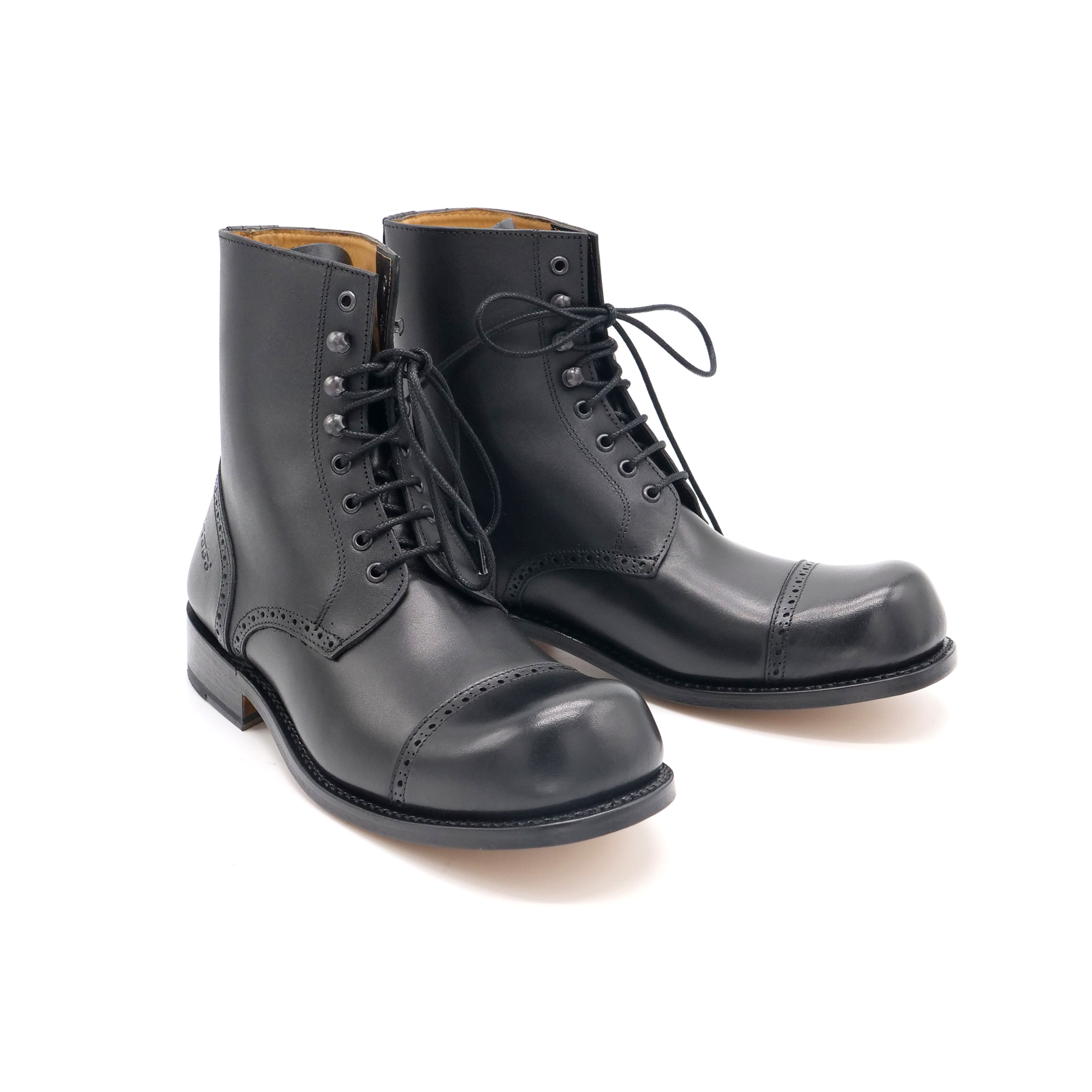 Hobo Charly Derby leather sole black