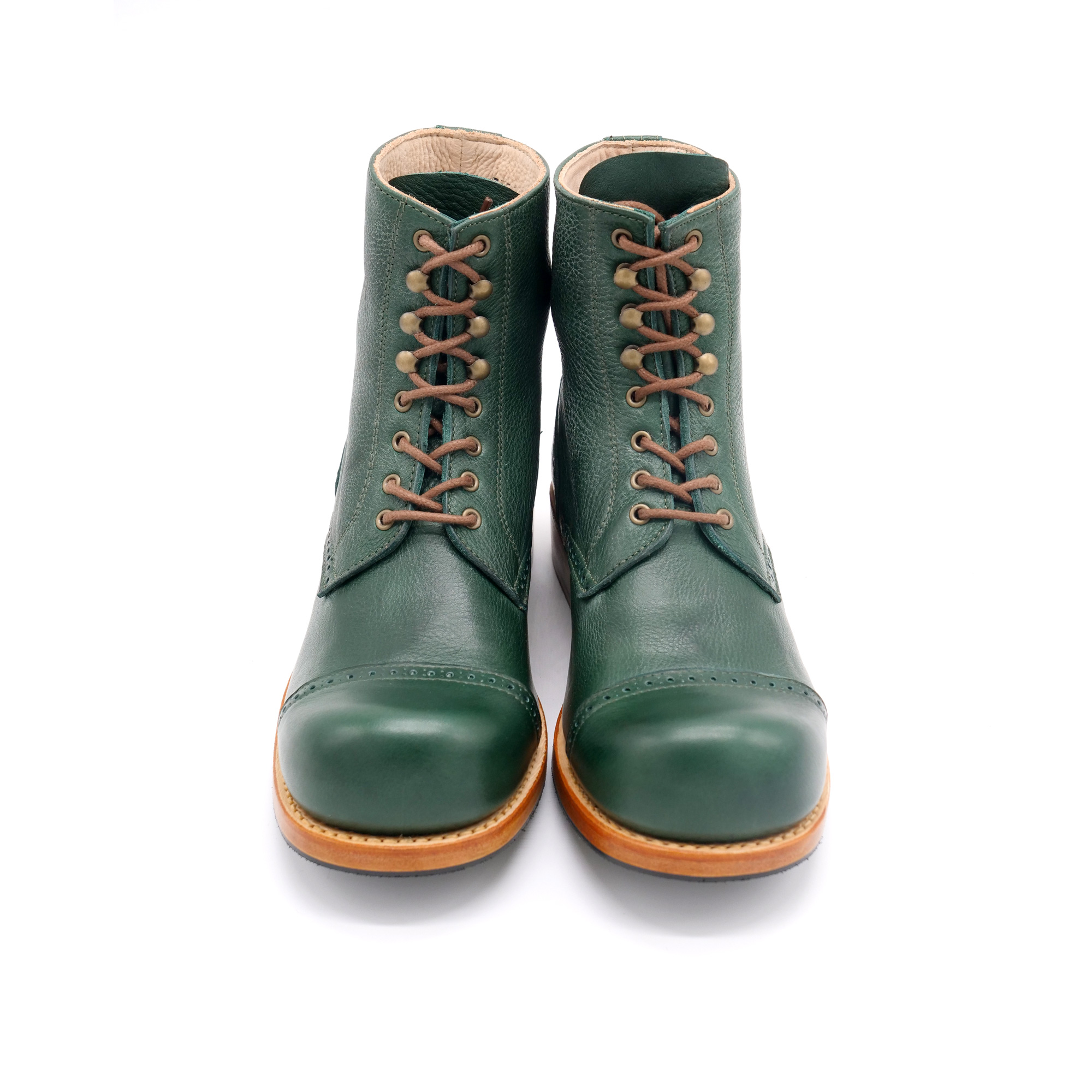 Hobo Charly Derby leather rubber sole rucola green