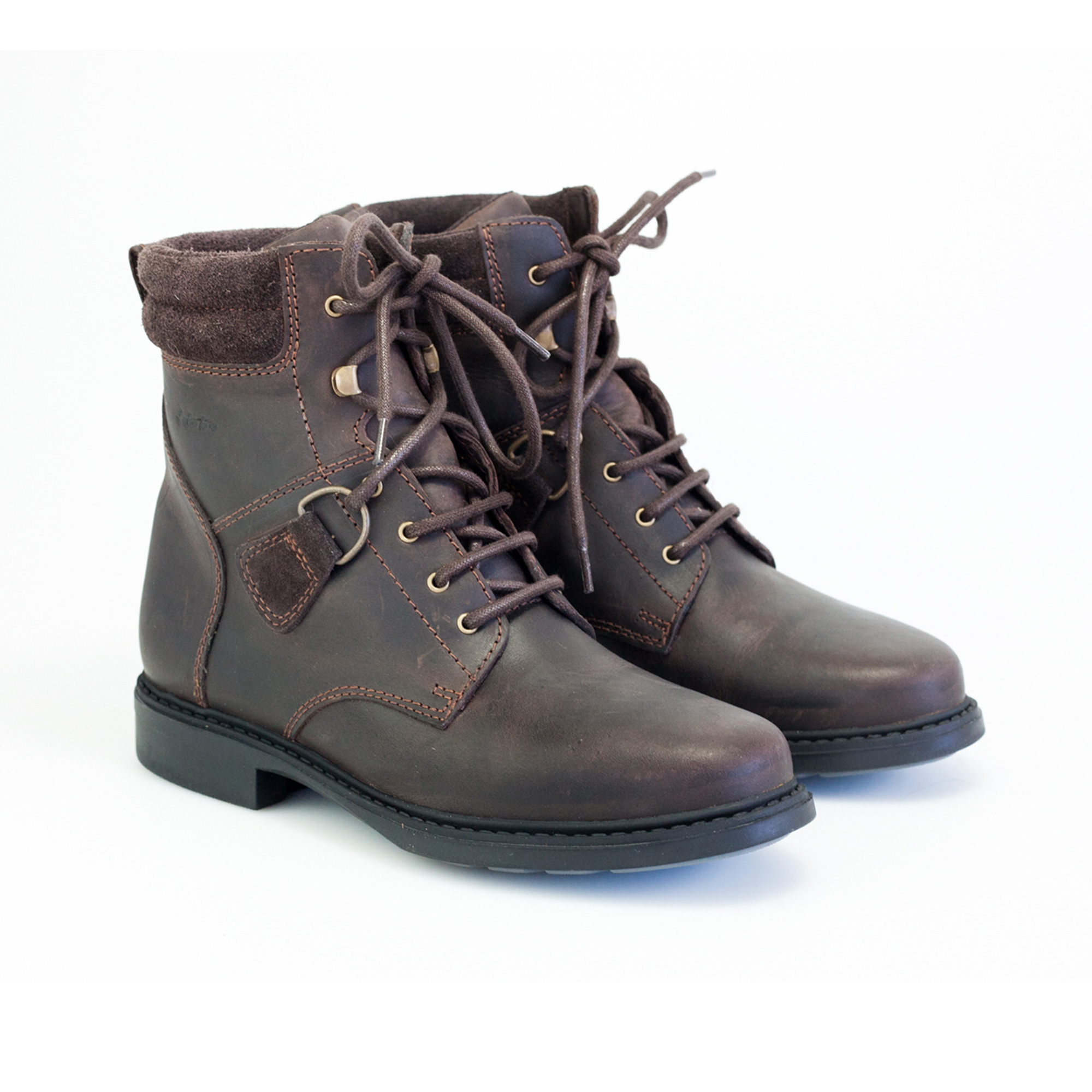 High Savanne Schnürstiefelette waxy brown