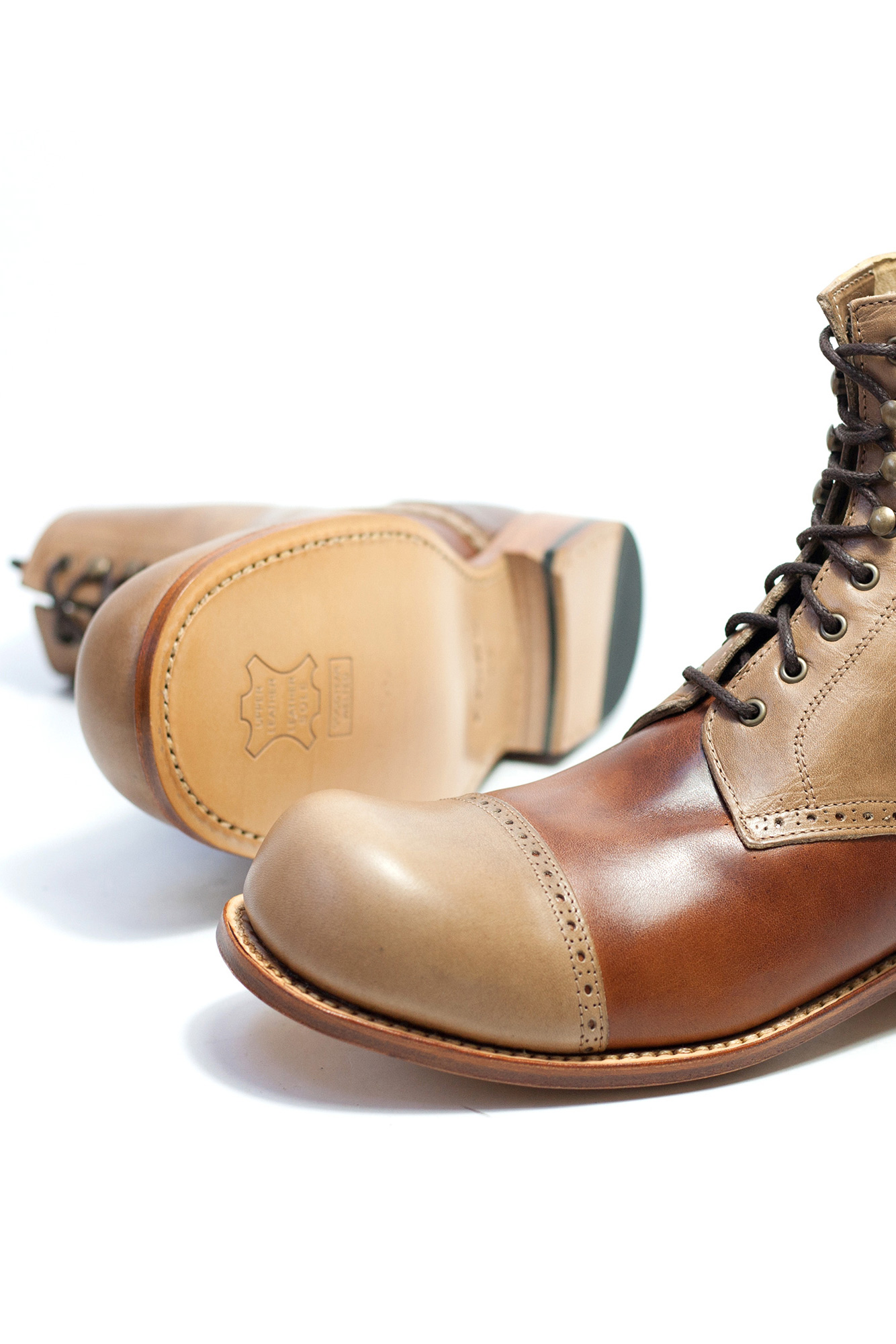 Charly Derby Stiefelette brown mix braun