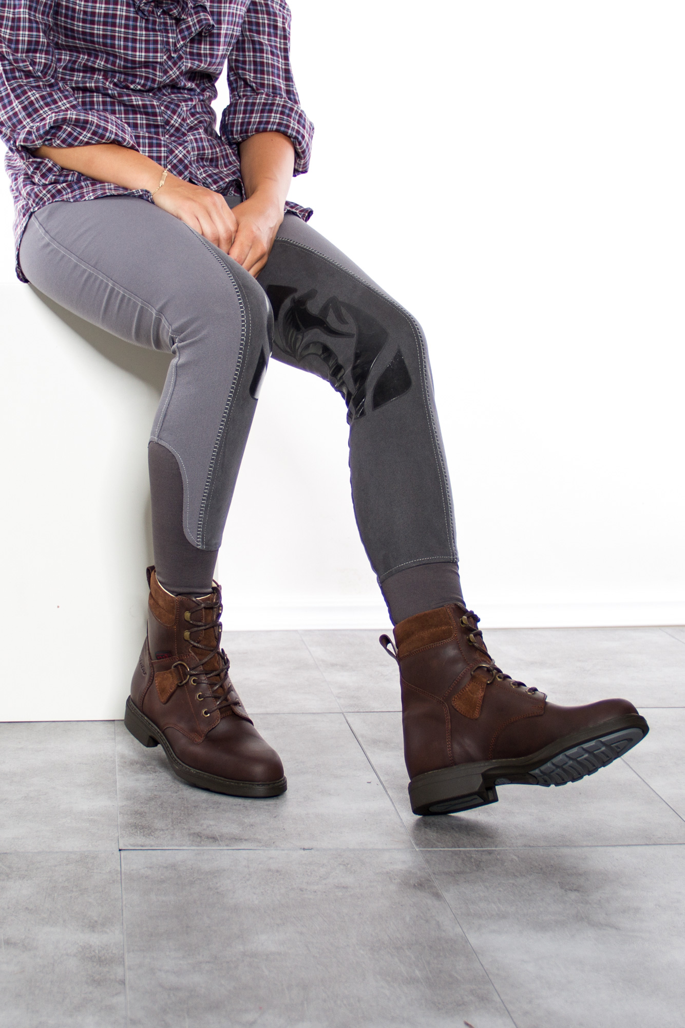 High Savanne Reitstiefelette waxy brown braun